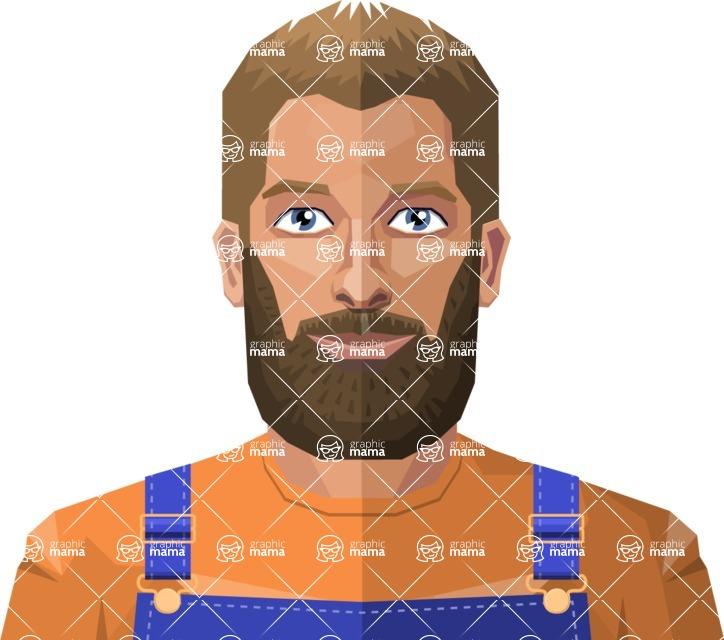 DIY Low Poly Geometric Characters: Men - Avatar 9