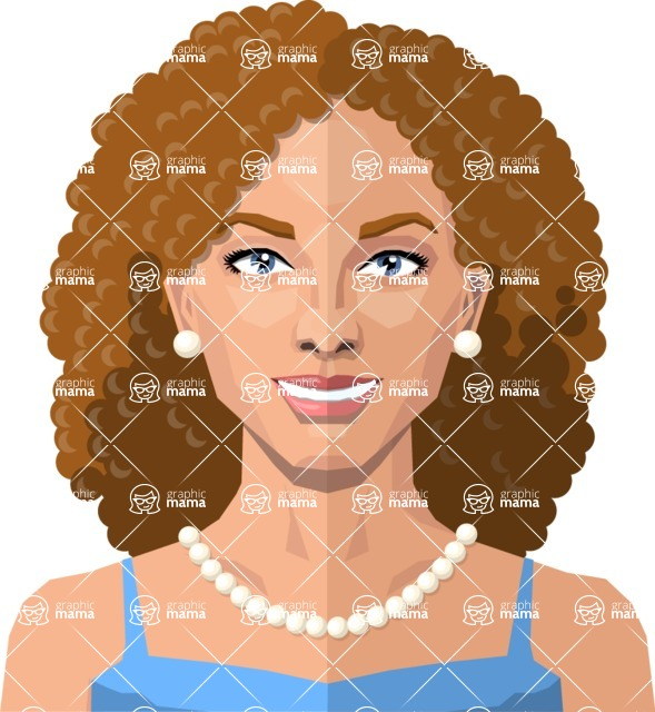 DIY Low Poly Geometric Characters: Women - woman avatar DIY