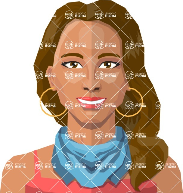 Female Low Poly Character Creator - create your own woman avatar