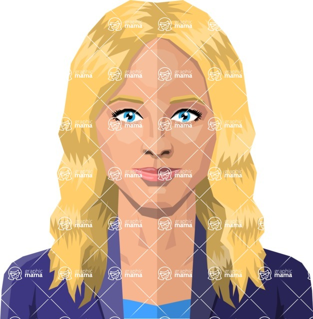 DIY Low Poly Geometric Characters: Women - vector blonde woman flat design