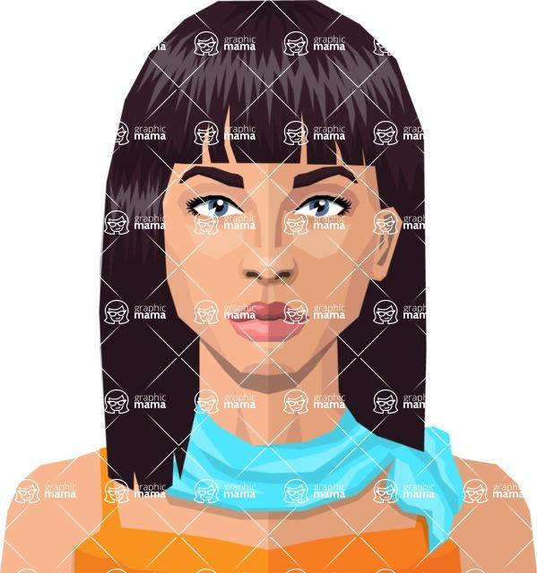 DIY Low Poly Geometric Characters: Women - Avatar 22