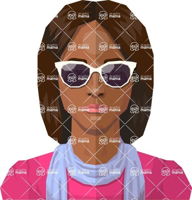 DIY Low Poly Geometric Characters: Women - Avatar 26