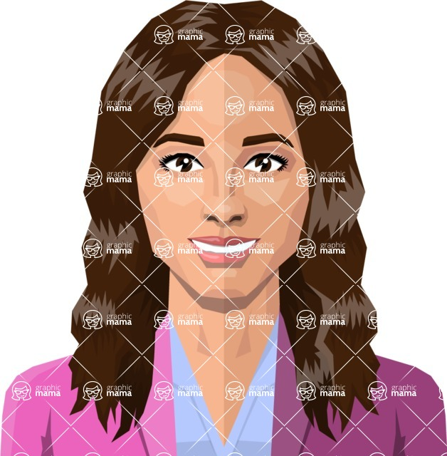 DIY Low Poly Geometric Characters: Women - Avatar 27