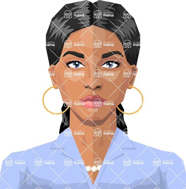 Female Low Poly Character Creator - vector female character design