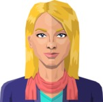 DIY Low Poly Geometric Characters: Women - Avatar 21