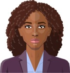 Female Low Poly Character Creator - vector afro-american woman flat design black hair curls