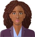 Female Low Poly Character Creator - vector afro-american woman flat design black hair curls