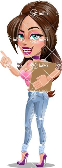 Attractive Young Woman Cartoon Vector Character AKA Alessia - Notepad 1
