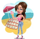 Attractive Young Woman Cartoon Vector Character AKA Alessia - Shape 9