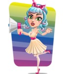 Pin Up Girl Cartoon Vector Character AKA Minty Curl - Shape 5