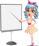 Pin Up Girl Cartoon Vector Character AKA Minty Curl - Presentation 1