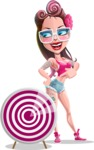 Tattoed Girl Cartoon Vector Character AKA Cindy - Target