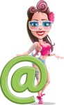 Tattoed Girl Cartoon Vector Character AKA Cindy - E-mail