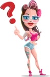 Tattoed Girl Cartoon Vector Character AKA Cindy - Question