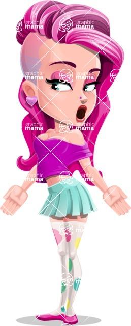 Teenage Girl Cartoon Vector Character AKA Magenta - Lost