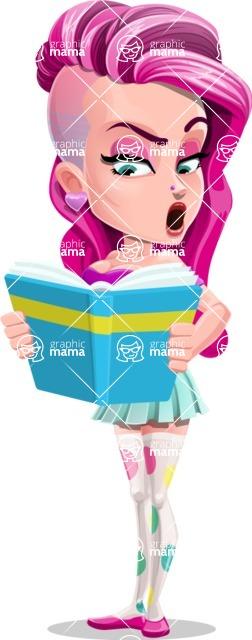 Teenage Girl Cartoon Vector Character AKA Magenta - Book 2