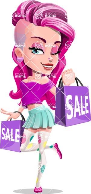 Teenage Girl Cartoon Vector Character AKA Magenta - Sale 1