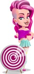 Teenage Girl Cartoon Vector Character AKA Magenta - Target