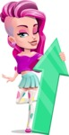 Teenage Girl Cartoon Vector Character AKA Magenta - Arrow 1