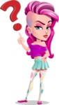 Teenage Girl Cartoon Vector Character AKA Magenta - Question