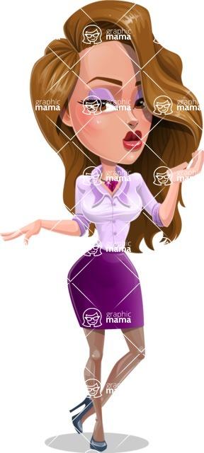 Pretty Girl with Long Hair Cartoon Vector Character - Duckface