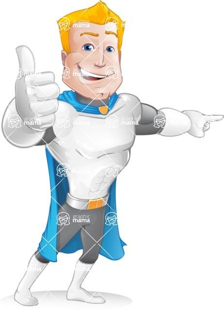 Muscle Superhero Cartoon Vector Character AKA Mister Tornado - Point 3