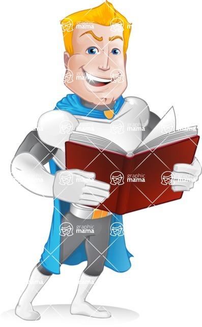 Muscle Superhero Cartoon Vector Character AKA Mister Tornado - Book