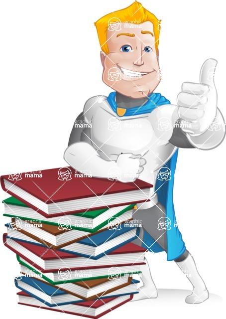 Muscle Superhero Cartoon Vector Character AKA Mister Tornado - Books 1