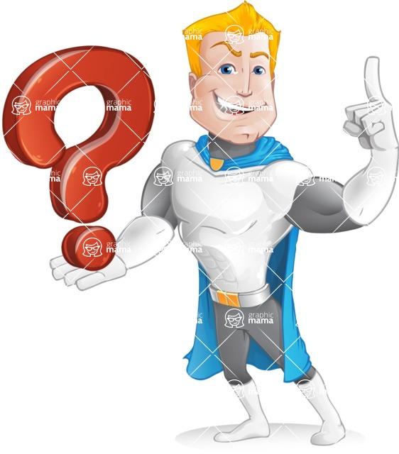 Muscle Superhero Cartoon Vector Character AKA Mister Tornado - Question