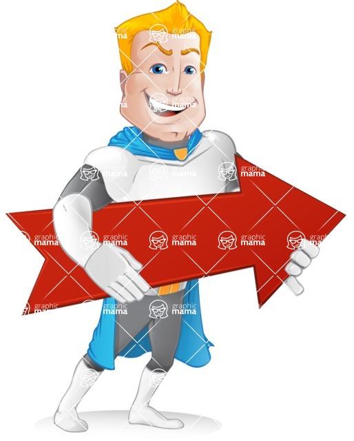 Muscle Superhero Cartoon Vector Character AKA Mister Tornado - Arrow 2