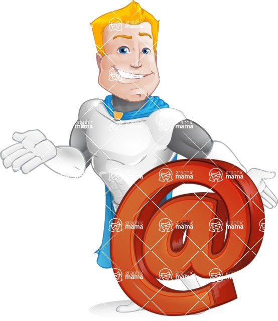 Muscle Superhero Cartoon Vector Character AKA Mister Tornado - Email