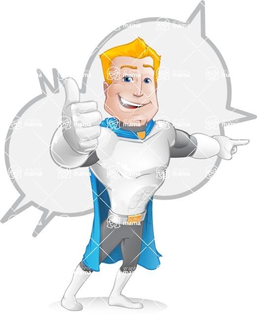 Muscle Superhero Cartoon Vector Character AKA Mister Tornado - Shape 5