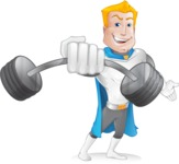 Muscle Superhero Cartoon Vector Character AKA Mister Tornado - Fitness