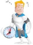 Muscle Superhero Cartoon Vector Character AKA Mister Tornado - Time to Sleep
