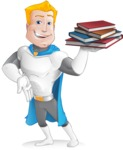 Muscle Superhero Cartoon Vector Character AKA Mister Tornado - Books 2