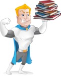 Muscle Superhero Cartoon Vector Character AKA Mister Tornado - Books 3