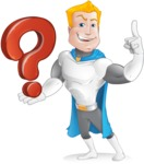 Muscle Superhero Cartoon Vector Character AKA Mister Tornado - Question