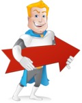 Muscle Superhero Cartoon Vector Character AKA Mister Tornado - Arrow 2
