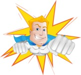 Muscle Superhero Cartoon Vector Character AKA Mister Tornado - Shape 1