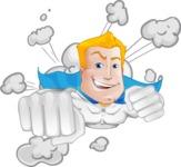 Muscle Superhero Cartoon Vector Character AKA Mister Tornado - Shape 2