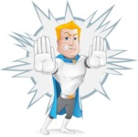 Muscle Superhero Cartoon Vector Character AKA Mister Tornado - Shape 6