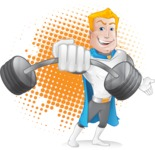 Muscle Superhero Cartoon Vector Character AKA Mister Tornado - Shape 8