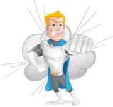 Muscle Superhero Cartoon Vector Character AKA Mister Tornado - Shape 10