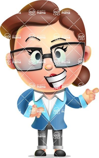 Vector 3D Business Woman Character Design AKA Sharon Blazer - Point 2