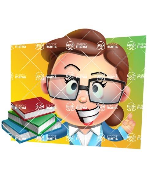 Vector 3D Business Woman Character Design AKA Sharon Blazer - Shape 3