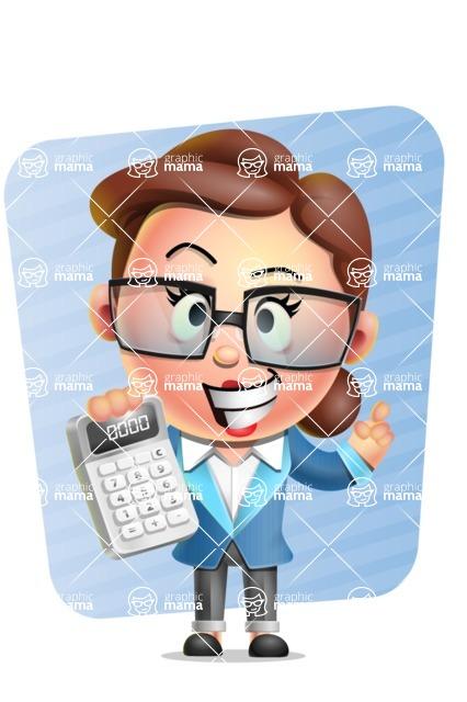 Vector 3D Business Woman Character Design AKA Sharon Blazer - Shape 5
