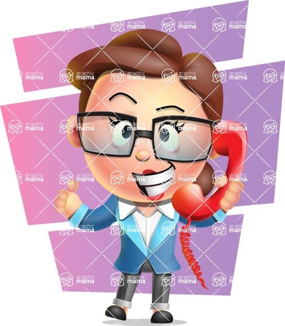 Vector 3D Business Woman Character Design AKA Sharon Blazer - Shape 7