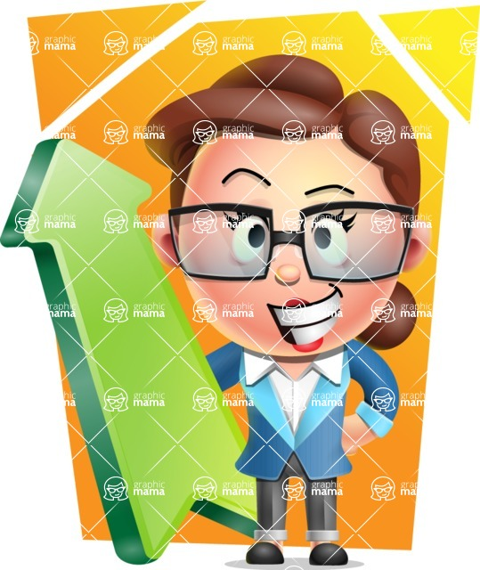 Vector 3D Business Woman Character Design AKA Sharon Blazer - Shape 8