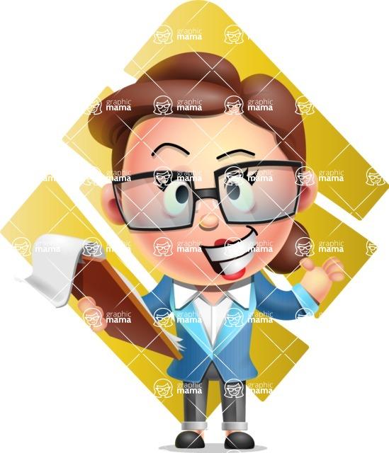 Vector 3D Business Woman Character Design AKA Sharon Blazer - Shape 11