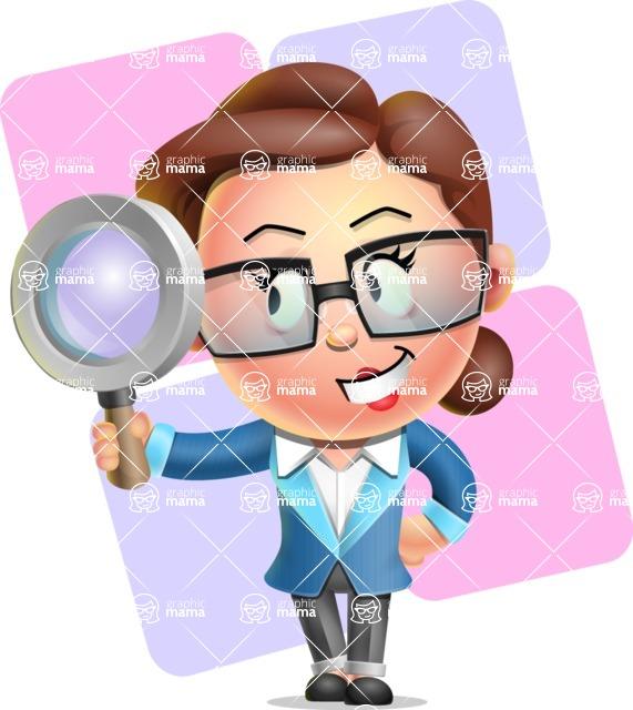 Vector 3D Business Woman Character Design AKA Sharon Blazer - Shape 12